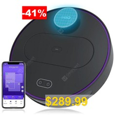 360 #S6 #Robot #Vacuum #Cleaner #1800Pa #Suction #Mopping #Sweeping #Mode #APP #Remote #Control #LDS #Lidar #SLAM #Algorithm #- #BLACK