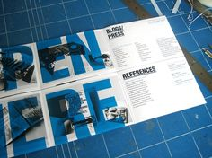 Effektive CV/Poster Mailer on the Behance Network #3tone #design #multiply