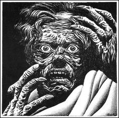 Hannes Bok 46 | Flickr Photo Sharing! #monster #illustration #ink #horror