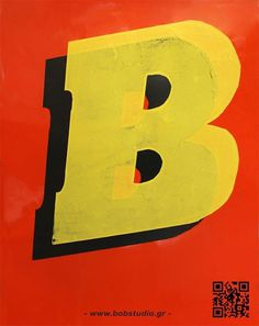 B-poster #silkscreen #red #yellow #bob #poster