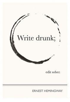 Ernest Hemingway Art Prints Posters Illustration by ObviousState #poster #white #serif #black #sans #write #drunk #hemingway