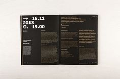 XXXII Festival Ars Cameralis brochure - Marta Gawin #layout #editorial #brochure #typography
