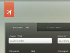 Flight #modern #orange #clean #ui #web #style