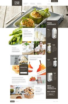 Web and Interface Design / Food and Life Web design
