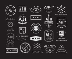Ath-sports-nutrition-concepts #mark #logo #identity #branding
