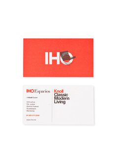 Iho3 #business card #knoll
