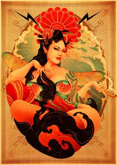 ONEQ (Onekyuu) #woman #japanese #color #pin #up