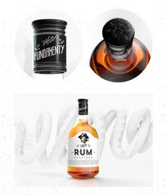 RUM Packaging by Mateusz Chmura #graphic design #design #packaging #label #package design #bottle #rum