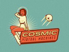 Cosmic Virtual Machines #inspiration #logo #design #vintage