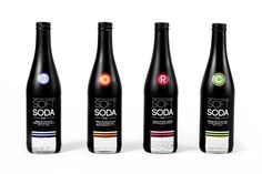 Soft Soda Co. Bottles #bottle #packaging #color #code #black #window #dark