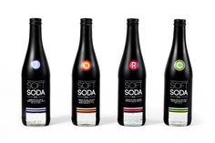 Soft Soda Co. Bottles #bottle #packaging #color #code #black #window #dark