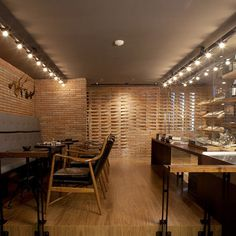 Dude Cigar Bar by Studiomake #brick #masonry #interiors #architecture
