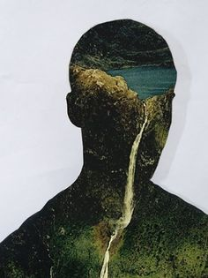 FFFFOUND! #landscape #collage #illlustration
