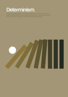Major Movements in Philosophy as Minimalist Geometric Graphics | Brain Pickings #determinism #poster
