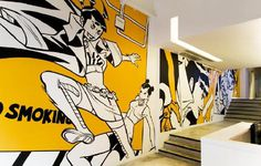 The Factory | RAD #mauro #kong #yellow #office #marchesi #the #black #space #wall #art #hong #factory