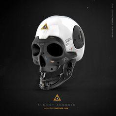 Almost Human - Skull by moth3R on deviantART