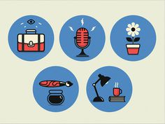Icons-large #blue #red #icons