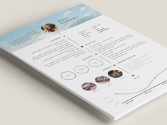 Free Timeline Illustrator Resume Template for Personal Use