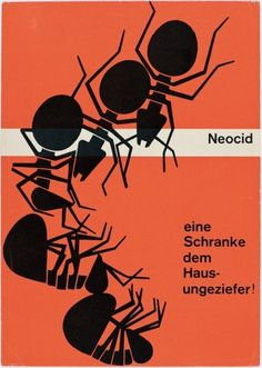 aesthetic interlude.: Geigy / Swiss Graphic Design #neocid #geigy #orange #ants
