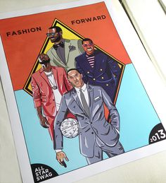 Fashion Forward NBA Poster TIM™ #illustration #lakers #angeles #york #knicks #new #design #la #anthony #poster #wade #nba #los #lebron #playoffs #heat #melo #miami #drawing #basketball #kobe
