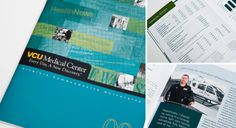 VCU Medical Center Annual Report #brochure #design #annual #report