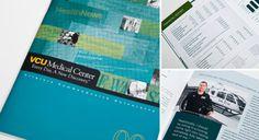 VCU Medical Center Annual Report #brochure #design #annual #report