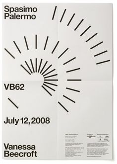 Vanessa Beecroft VB62 - Experimental Jetset #white #experimental #black #geometric #poster #and #jetset