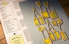 Art of the Menu: Teplitzky's #menu #typography