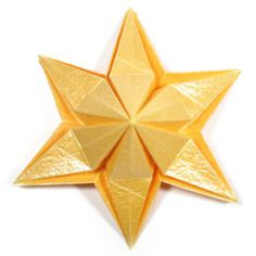 How to make an embossed six-pointed origami star (http://www.origami-make.org/howto-origami-star.php)