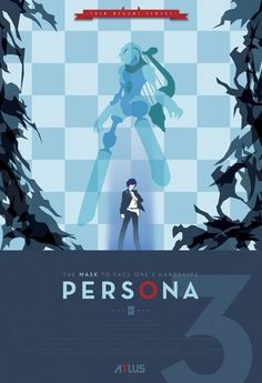 Persona 3 Art Print by Phil Giarrusso | Society6 #illustration #vector #gaming