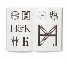 'Monogram logo' book by Leterme Dowling & Counter-Print | typetoken® #mm