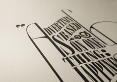 TV Quotes on Typography Served #letterpress #typography
