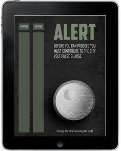 Metropolis city guide app #app #sci fi #metropolis #tablet