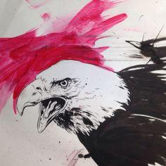 Tumblr #eagle #ink #art