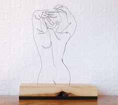 Wire Sculptures #lines #sculpture #body #sketch