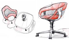 coalesse2_10042011 #illustration #drawn #project #furniture
