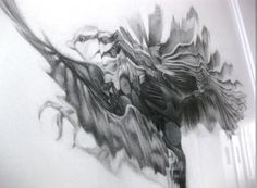 NTHN blog #motion #graphite #drawing #bird
