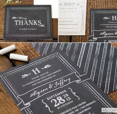 Chalkboard Love: Wedding Invitation Roundup #type #invitation #wedding #chalk type