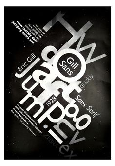 Type Specimen: Gill Sans on Behance #type #specimen #poster