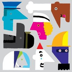 polska ilustracja dla dzieci #profession #illustration #faces #people