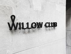 Graphic-ExchanGE - a selection of graphic projects #interior #design #willow #identity #signage #club