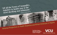 VCU Health Disparities Postcard