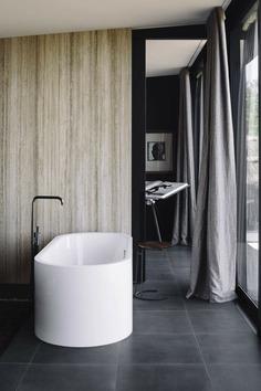 bathroom, Mountain retreat, Fearon Hay Architects, New Zealand