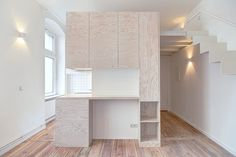 Micro-Apartment: 21 square-meters flat renovated in Berlin #interior #design #decor #deco #decoration