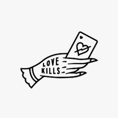 love, kills, card, pin, logo, heart, hand