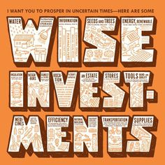 pjchmiel >> Wise Investments Card and Text #investment #illustration #typography