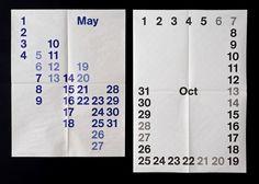 Studio Lin — High-res Special | September Industry #newsprint #calendar #lin #studio #typography