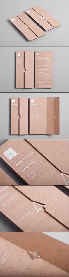 Xue Xue Awards 2012 #brochure #paper #materials