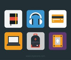 Stylicons by Michael Rowe #flat #icons