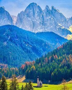 Val di Vunes, Dolomites, Italy